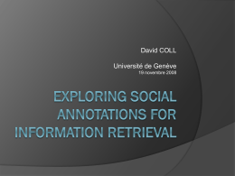 Exploring Social Annotations for Information Retrieval