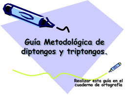 Guía Metodologica de diptongos y triptongos.