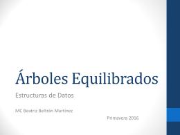 Árboles AVL y Árboles B - Beatriz Beltrán Martínez