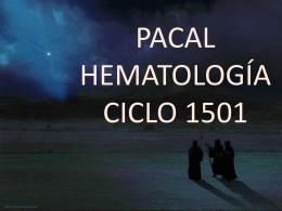 PACAL HEMATOLOGÍA CICLO 1501