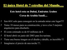 hotel 7 estrellas en dubai