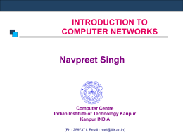 Introduction to Computer Networks - IITK