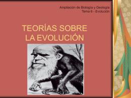 teorías de la evolución - Profesor JG Calleja