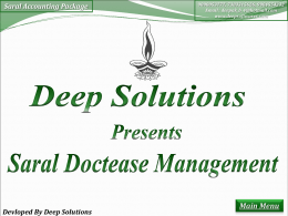 Devloped By Deep Solutions - Saral Accounting Softwares