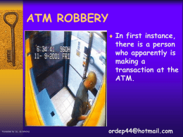 ATMs Robbery