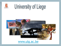 High Schools - Université de Liège
