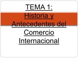 2013 Tema HISTORIA Y ANTECEDENTES DEL COMERCIO