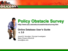 Policy Obstacle User`s Guide