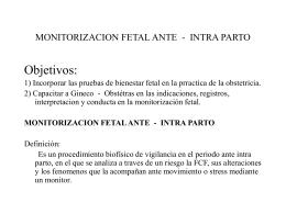 monitorizacion fetal ante