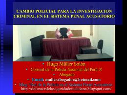 rol de la policia nacional del peru en el nuevo modelo procesal penal