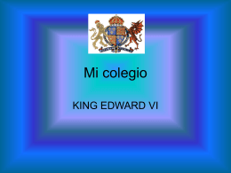 Mi colegio - King Edward VI School