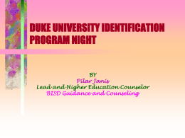 duke university identification program night