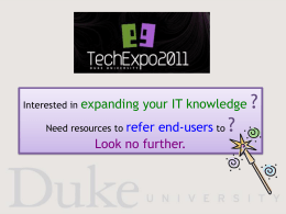 Online training at your fingertips! - Sites@Duke