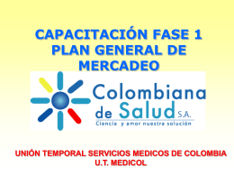 Plan de Mercadeo - Colombiana de Salud