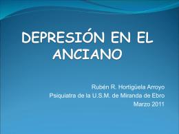 DEPRESIÓN EN POBLACIONES ESPECIALES