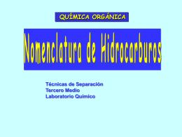 Tema 3 Clasificación y Nomenclatura de los Compuestos Orgánicos