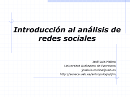 Introducción al análisis de redes sociales