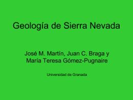 Geología de Sierra Nevada
