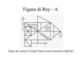 Figura di Rey - Dipartimento di Psicologia