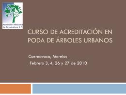 Curso Poda en Cuernavaca - Asociación Mexicana de Arboricultura