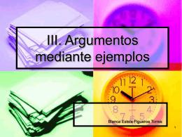 Argumentos mediante ejemplos