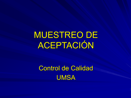 Muestreo de aceptacion - Resumen - umsa-cc
