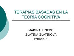 TERAPIAS BASADAS EN LA TEORÍA COGNITIVA.