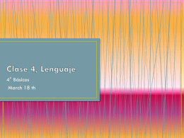 Clase 4, Lenguaje