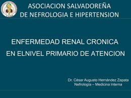Enfermedad renal crónica en APS