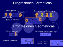 Progresiones Aritméticas - IES Profesor Juan Bautista