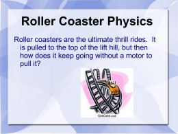 roller coaster Webquest
