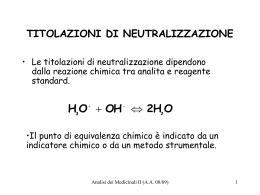 titolazioni di neutralizzazione