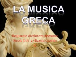 La musica nell`antica Grecia