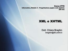 xml_lezione1 - Dipartimento di Informatica