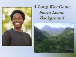A Long Way Gone: Sierra Leone Background