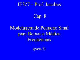 Capítulo 8 - Modelagem de Pequeno Sinal para Baixas e Médias