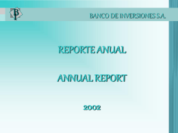 2002 - Banco de Inversiones SA (BdI)