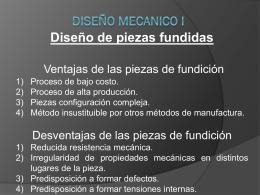 Diseño Mecánico I Piezas Fundidas.