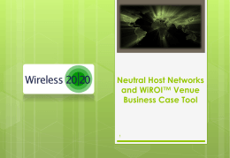 Neutral Host Networks