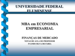 BOLSAS DE VALORES - Universidade Federal Fluminense