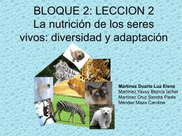 La nutrición de los seres vivos: diversidad y - est116