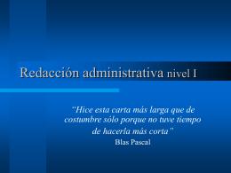 Redacción administrativa nivel I