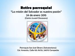 Taller - resumen - La misión del Salvador es nuestra pasión